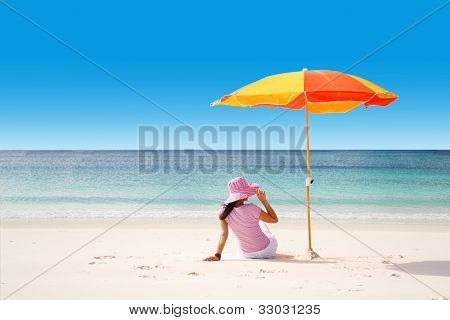 Relaxing At Tropical Beach