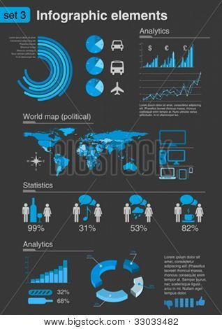 INFOGRAPHICS. Icons and Elements For business and finance reports, statistics, diagram graph
