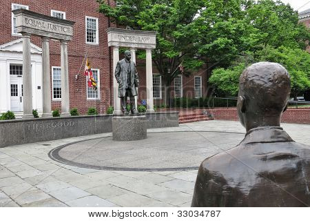 Us Supreme Court Justice Thurgood Marshall Statue