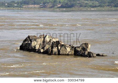Rock Stone River Image Fish