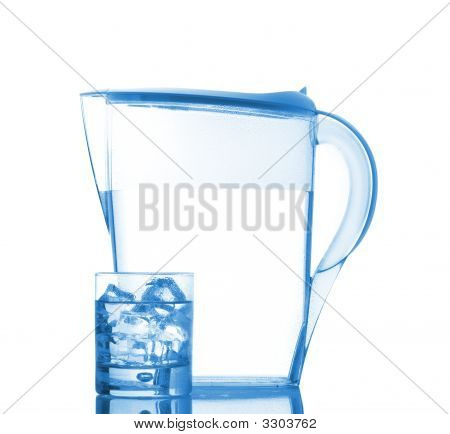 Pitcher And Glass With Droplets