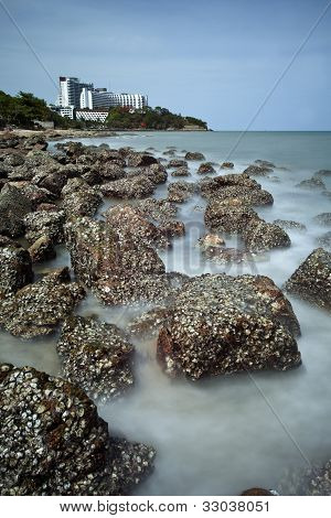 Stone Beach In Pattaya