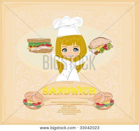 Template designs of fast food menu