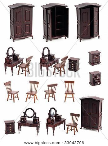Dressing Room Isolated Furniture Toys