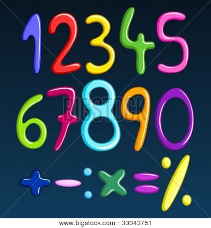 Colorful spaghetti numbers