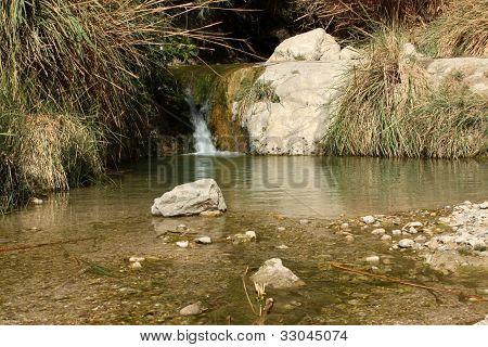 stream at ein gedi national park israel