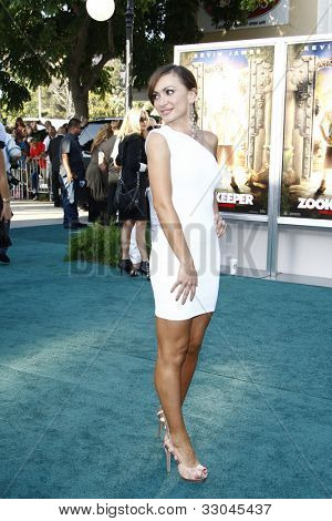 LOS ANGELES, CA - JULY 06:  Karina Smirnoff at the premiere of 'The Zookeeper' at the Regency Village Theatre on July 6, 2011 in Los Angeles, California