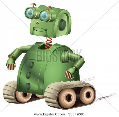 Illustration of an old style robot - EPS VECTOR format also available in my portfolio.