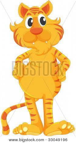 Comical tiger on a white background - EPS VECTOR format also available in my portfolio.