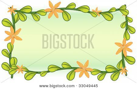 Blank template with leafy border - EPS VECTOR format also available in my portfolio.