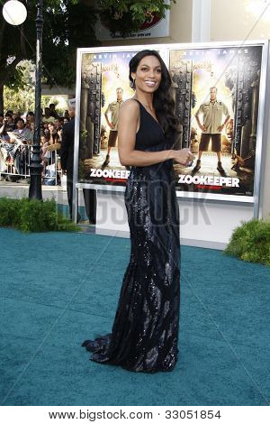 LOS ANGELES, CA - JULY 06:  Rosario Dawson at the premiere of 'The Zookeeper' at the Regency Village Theatre on July 6, 2011 in Los Angeles, California