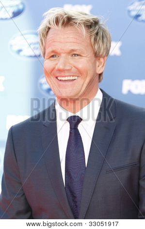 LOS ANGELES - MAY 25: Gordon Ramsay at the American Idol Finale at the Nokia Theater in Los Angeles, California on May 25, 2011