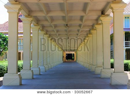 Pillar Of Thai Royal Summer Palace,hua Hin,thailand