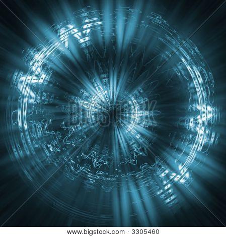 Futuristic Background Blue