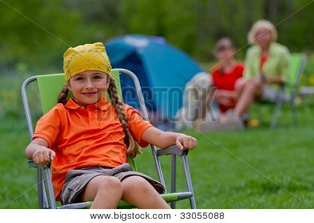 Summer vacation - family on summer camp