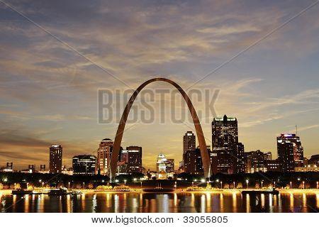 City of St. Louis Skyline, Missouri
