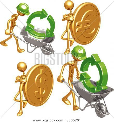 Green Construction Gold Coins