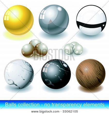 Balls Collection Without Transparency Elements