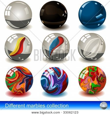 Different Marbles Collection
