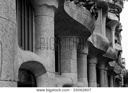 Casa Mila' - Facade Detail - Barcelona, Spain.