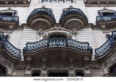 Modernist building facade