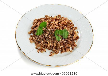 Boiled Buckwheat Isolated
