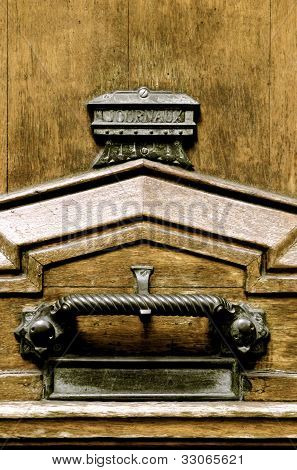 Macro Wooden Front Door & Ironmongery