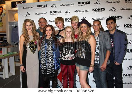 """LOS ANGELES - MAY 16: Magrane, Rosado, Laine, Van Pelt, Cavanagh, Dixon,Testone, Brackensick and Hee Jun Han arrives at the """"Authentic Icon"""" Collection For Kohl's on May 16, 2012 in Alhambra, CA"""