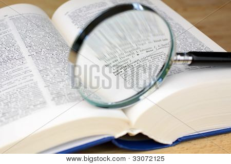 Magnifying Glass On The Word Love