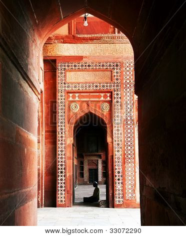 Fatehpur Sikri Mosque, India, built by the great Mughal emperor, Akbar beginning in 1570