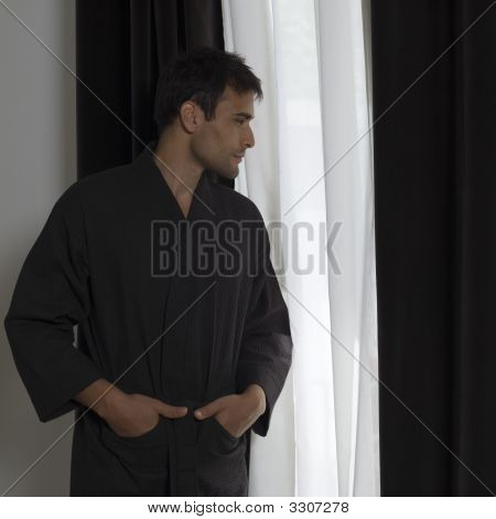 Handsome Man In A Bathrobe
