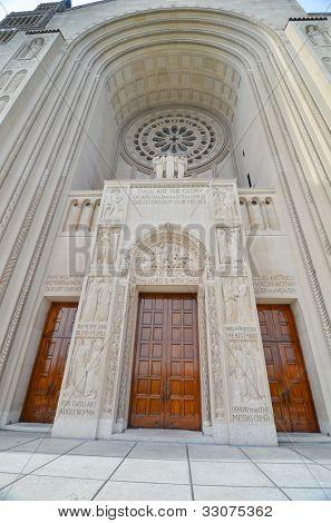 Washington DC - Basilica of the National Shrine of the Immaculate Conception - Main gate