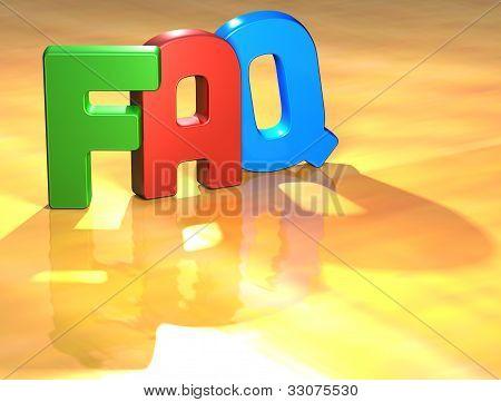 Word Faq On Yellow Background