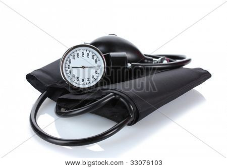Black tonometer isolated on white