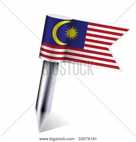 Vektor Malaysia Flag isolated on White. eps10