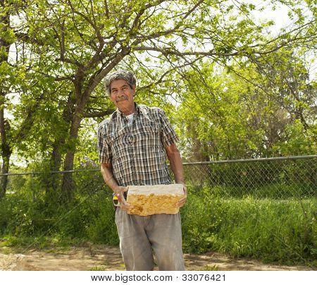 Portrait Of An Elderly Rocklayer