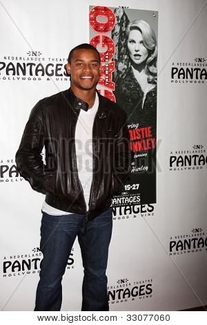 """LOS ANGELES - MAY 16:  Robert Ri'chard arrives at the Opening Night of the Play """"Chicago"""" at Pantages Theatre on May 16, 2012 in Los Angeles, CA"""