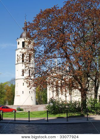 Vilnius Cathedral Belfry Tower - Spring In Lithuania