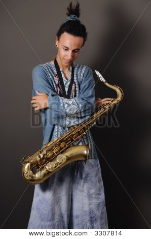 Teen Saxo Player