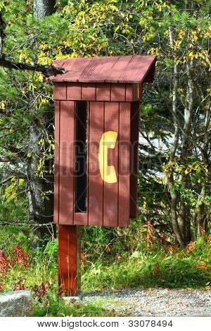 Rustic Payphone Booth