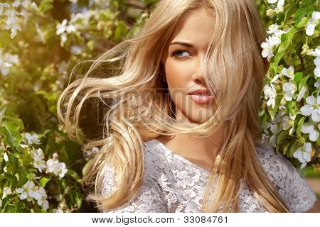 Shiny Portrait Of Beautiful Happy Woman