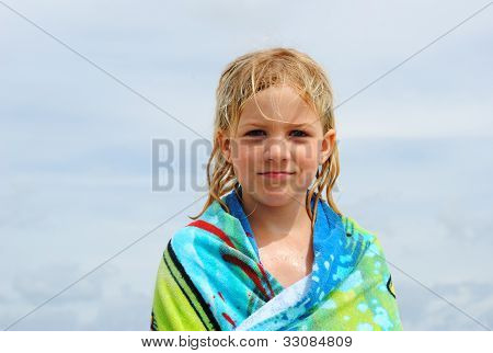 blonde girl at the beach