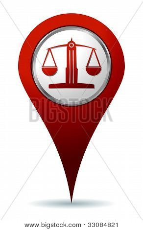 Location Lawyer Balance Icon