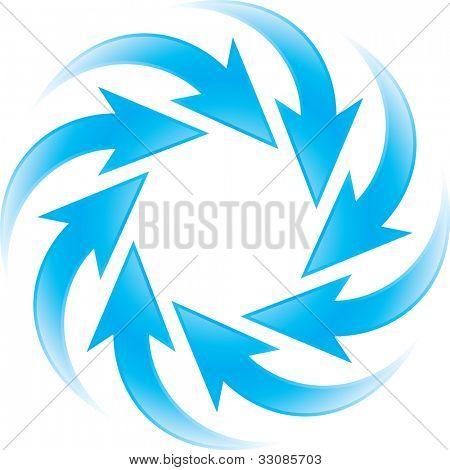 transformando setas azuis