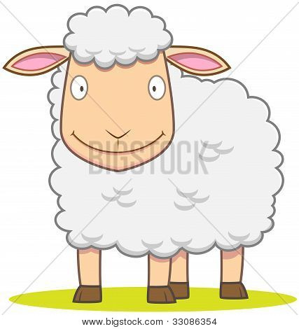 Smiley Sheep Cartoon
