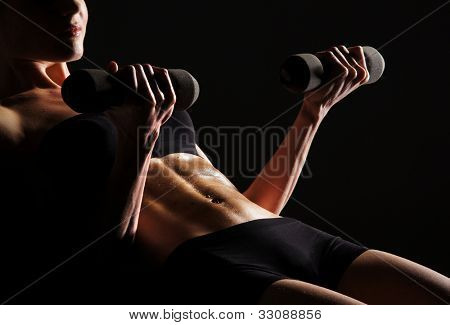Corpo sexy de jovens atraente desportivo barriga