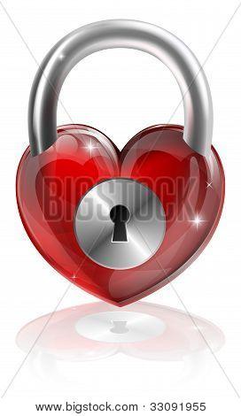 Conceito de coração fechado