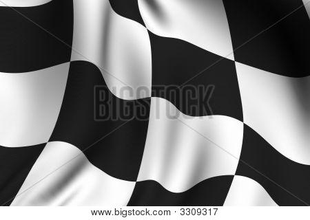 Bandera a cuadros prestado