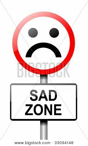 Sadness Concept.