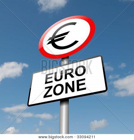 Euro-Zone-Konzept.